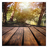 Wooden Table, Picnic