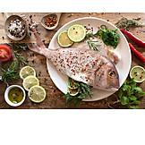 Gewürze, Zutaten, Roher Fisch, Fischgericht
