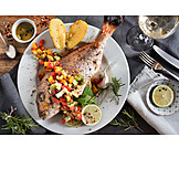 Gilt Head Bream, Fish Dish, Dish