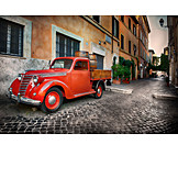 Car, Nostalgia, Italy, Rome, Trastevere