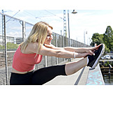 Young Woman, Woman, Sports & Fitness, Stretching, Runner