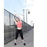 Junge Frau, Frau, Sport & Fitness, Strecken, Dehnen