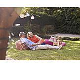 Picknick, Sommerlich, Seniorenpaar