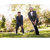Active Seniors, Stretching, Warming Up, Workout