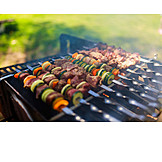 Meat, Broiling, Grill, Kebabs, Bbq