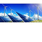 Windenergie, Alternative Energie, Solaranlage