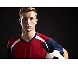 Portrait, Serious, Soccer player