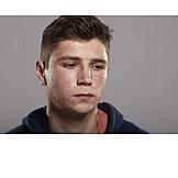 Teenager, Sad, Acne