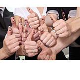 Teamgeist, Positiv, Daumen Hoch, Zustimmung