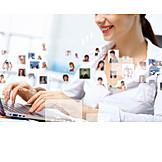 Online, Contact, Customers, Recruitment, Staff, Staff, Headhunter