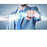 Geschäftsmann, Energiegeladen, Furchtlos
