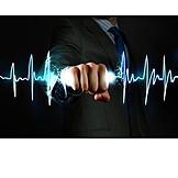 Geschäftsmann, Energie, Herzfrequenz, Herzschlag, Gesundheitscheck