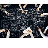 Planung, Strategie, Teamwork, Marketing, Brainstorming