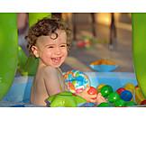 Toddler, Laughing, Bathing