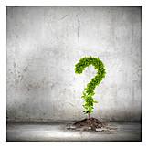 ökologie, Fragezeichen, Umweltbewusstsein