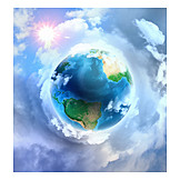 Sun, Earth, Atmosphere, Ozone Layer