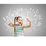 Mädchen, Mobile Kommunikation, ärger, Schreien, Mobiltelefon