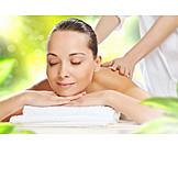 Woman, Wellness, Enjoy, Massage