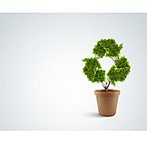 Umweltschutz, Recycling, Nachhaltigkeit, Recyclingsymbol