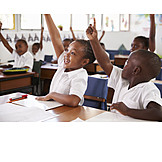 Schüler, Begeisterung, Motiviert, Wortmeldung