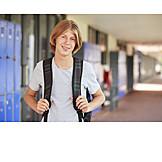 Junge, Teenager, Schüler