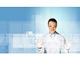 Science, Digital, Touchscreen, Laboratory, Scientist