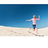 Child, Girl, Summer, Running, Vitality