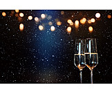 Sparkling, New Years Eve, Champagne Glass, Champagne