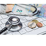Money, Keyboard, Stethoscope, E-health