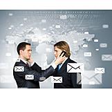 Kommunikation, Telefonieren, Email, Geschäftspartner