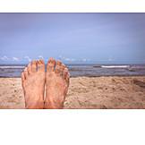 Beach, Relaxing, Vacation, Feet