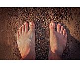 Beach, Barefoot, Feet