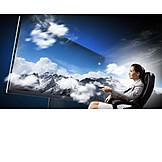 Tv, Fernsehen, Flatscreen, Multimedia, Heimkino