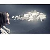 Girl, Technology, Internet, Www