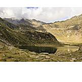 Mountain lake, South tyrol, Spronser lakeland