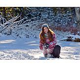 Girl, Happy, Snowball