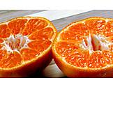 Orange, Flesh, Halved