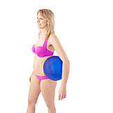 Woman, Bikini, Beach Ball