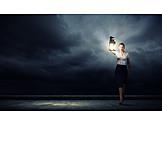 Geschäftsfrau, Licht, Erschrocken, Verlaufen