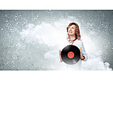 Music, Retro, Record, Vinyl