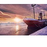 Winter, Wilhelmshaven, Lightship