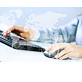 Business, Keyboard, Internet, Worldwide, Global Player