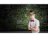 Junge, Kind, Bildung, Intelligent, Wunderkind