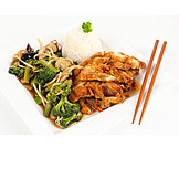 Asian Cuisine, Chicken, Crispy
