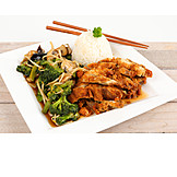 Asian Cuisine, Chicken, Lunch