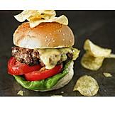 Hamburger, Cheeseburger, Amerikanische Küche