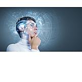 Wissenschaft, Nachdenklich, Forschung, Virtuelle Realität