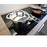 Cooking, Stove, Saucepan