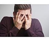 Mann, ängstlich, Verzweifelt, Schlechte Nachrichten, Erschrocken, Geschockt