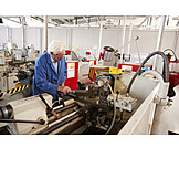 Industry, Engineering, Workshop, Workpiece, Lathe